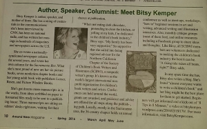 Bitsy Kemper profiled in Around Here Magazine