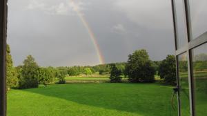 rainbows from Amys window at delapre abbey
